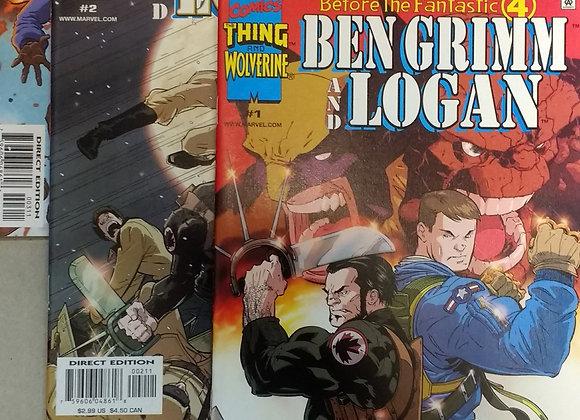 BEFORE THE FANTASTIC FOUR : BEN GRIMM AND LOGAN #1-3 - MARVEL COMICS