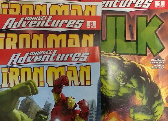 Marvel Adventures Iron Man #1-4,#6,#1 SPEC ED, HULK #1-2