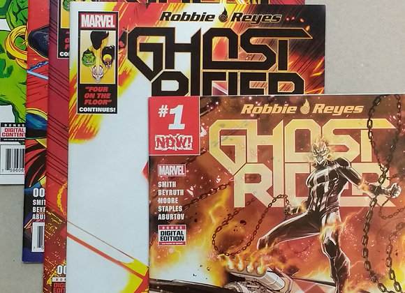 Robbie Reyes Ghost Rider 1-5 Complete Comic Lot Run Set Marvel Collection