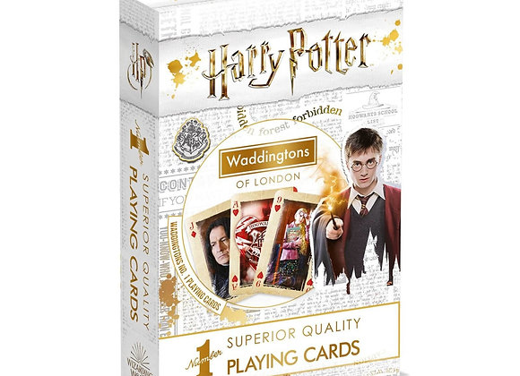 Waddingtons Playing Cards Pack - Harry Potter - White