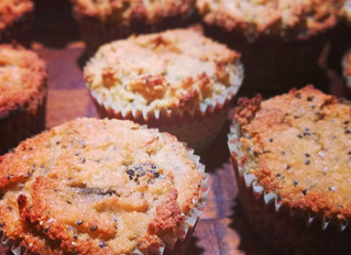 Super Healthy Banana-Chia Muffins (Gluten and Dairy free)