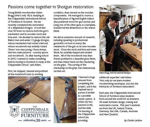 Adam Bragg, Furniture & Cabinetmaking magazine April 2016