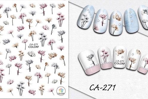CA-271 3D Nail Decoration Sticker