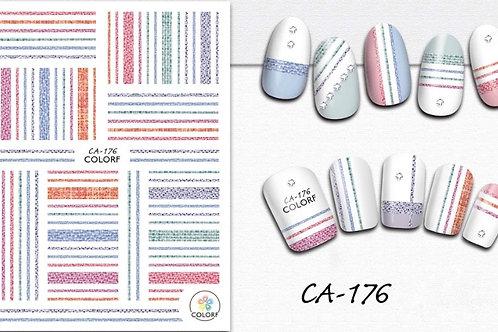 CA-176 3D Nail Decoration Sticker