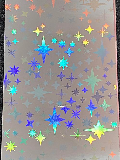 Silver Holo Transfer Foil 08