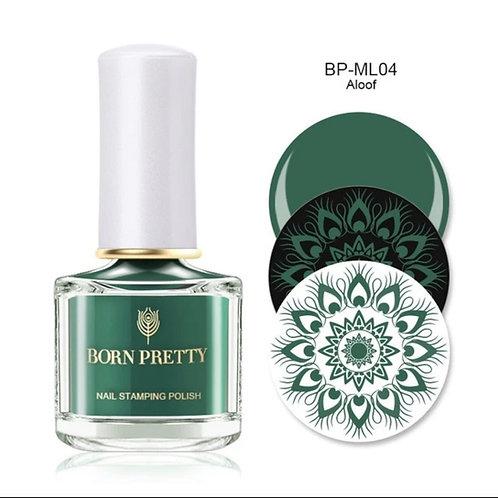 """Aloof"" - Green Stamping Polish 10 ml"