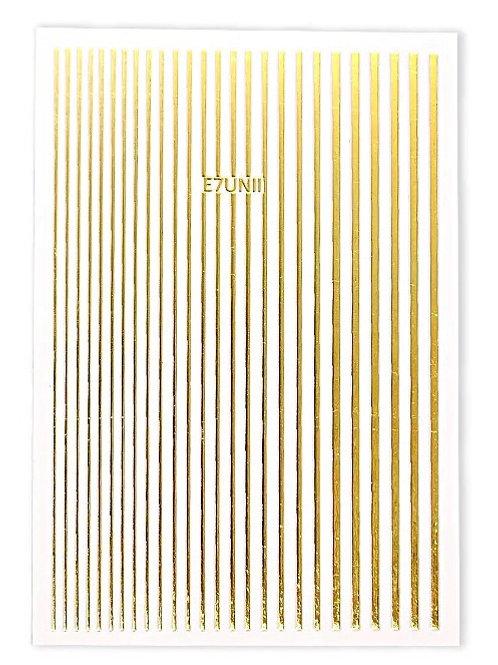 Gold - 3D Nail Decoration Sticker