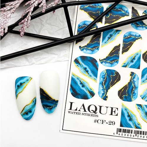 LAQUE Water Stickers #CF-29 Green