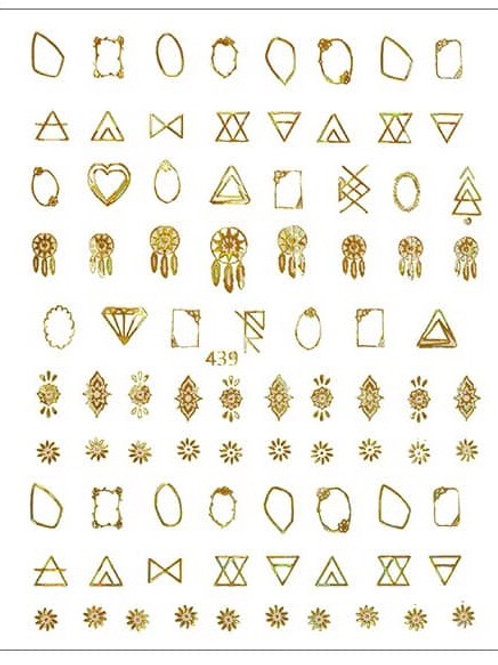 Gold #439- 3D Nail Decoration Sticker