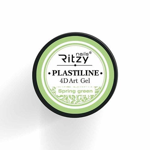 """PlastiLine 4D art gel """"Spring green"""""""