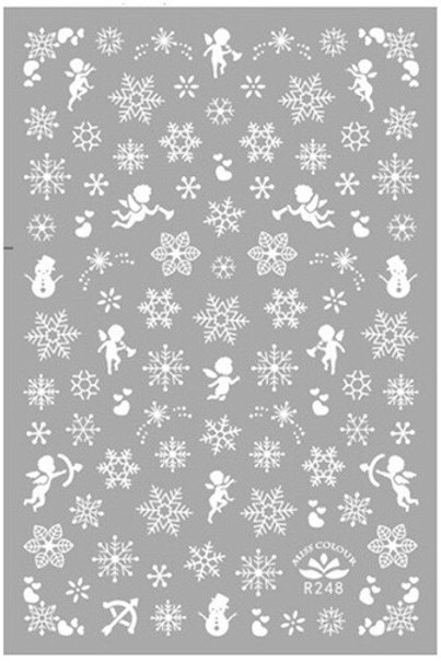 R-248 Snowflake 3D Self-adhesive Nail Art Sticker