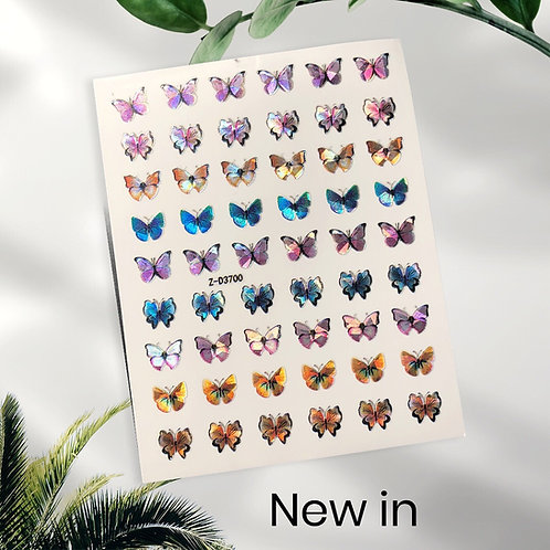 Holographic Butterfly Nail Art Stickers Z-D3700
