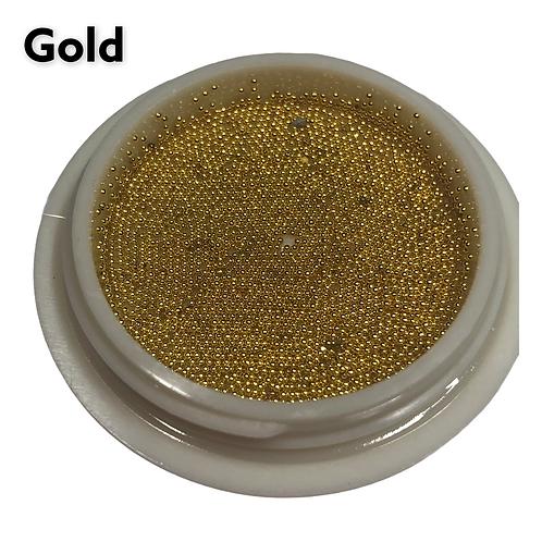 Gold Metalic Beads 0.6mm