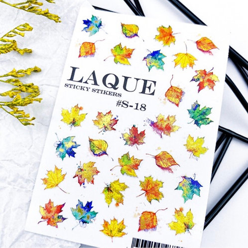 LAQUE #S-18 3D Stickers