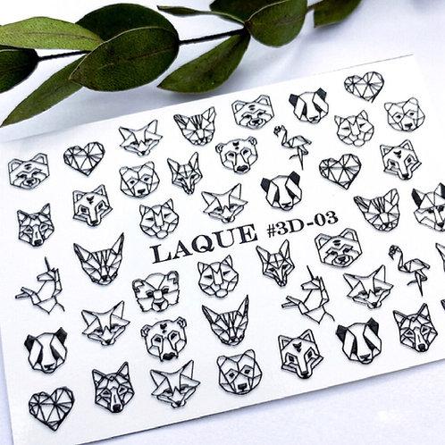 LAQUE #3D-03 Stickers