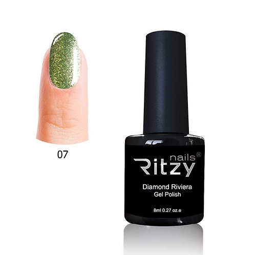 """Diamond Riviera"" 007 Bright Green Gel Polish"