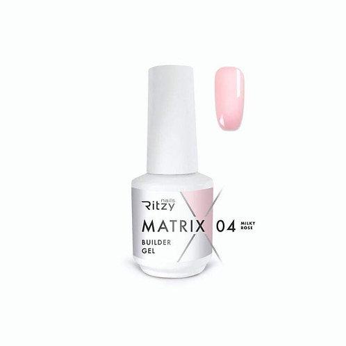 """Milky Rose"" 15 ml MATRIX Builder Gel in a bottle"
