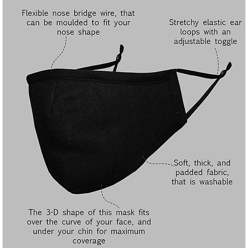 Re-useable Face Mask (2 pc)