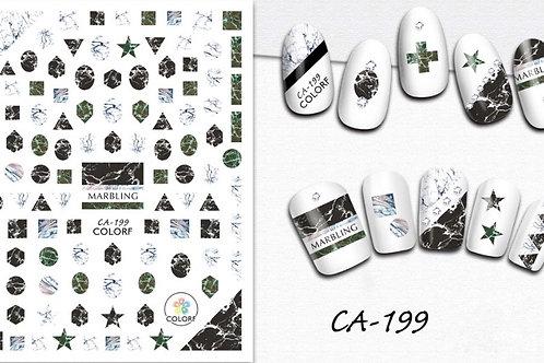 CA-199 3D Nail Decoration Sticker