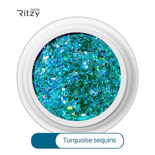 """""""Turquoise Sequins"""" A-09"""