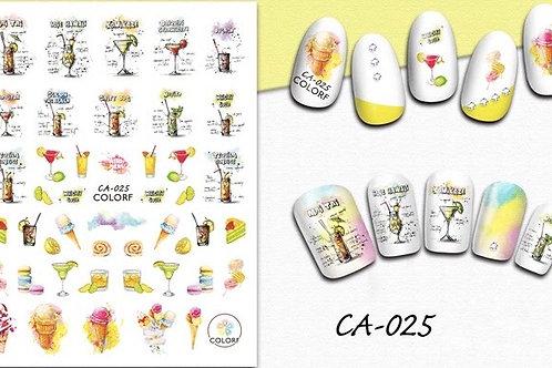 CA-025 3D Nail Decoration Sticker