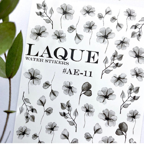 LAQUE #AE-11 Water Stickers