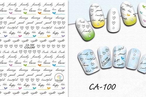 CA-100 3D Nail Decoration Sticker