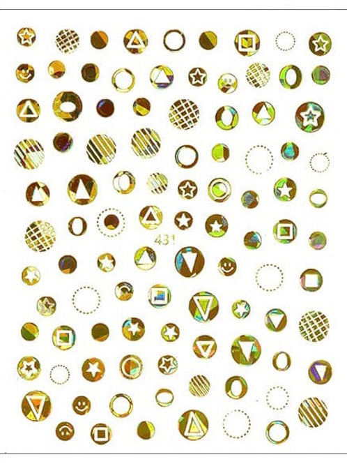 Gold Holo #431- 3D Nail Decoration Sticker