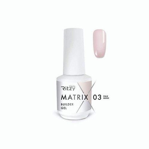 """""""Pale Beige"""" 15 ml MATRIX Builder Gel in a Bottle"""