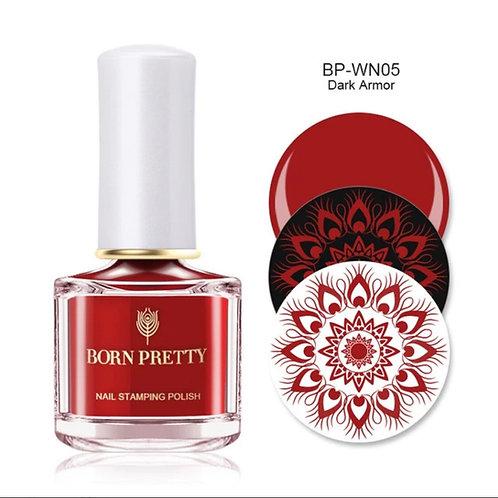 """Dark Amor"" - Red Stamping Polish 10 ml"