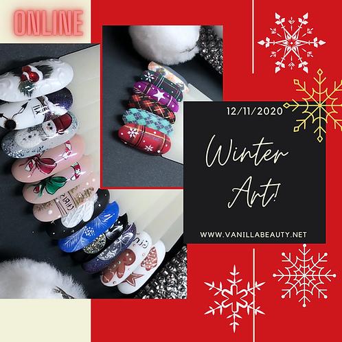 """""""Winter Art"""" Online Nail Art Course"""