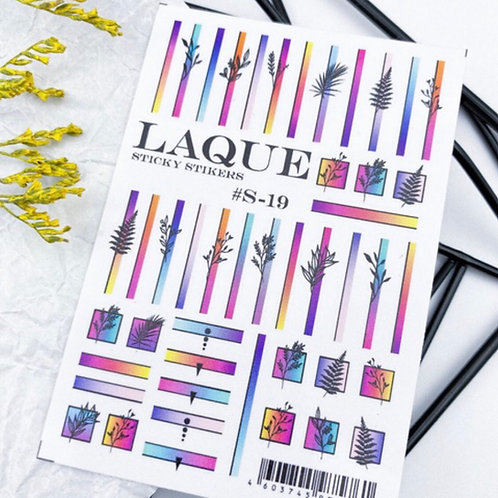 LAQUE #S-19 3D Stickers