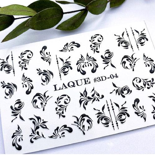 LAQUE #3D-04 BLACK Stickers