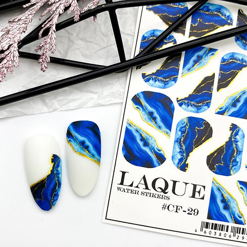 LAQUE Water Stickers #CF-29 Blue
