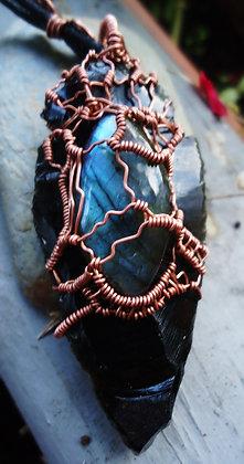 pointe obsidienne larme d'apache