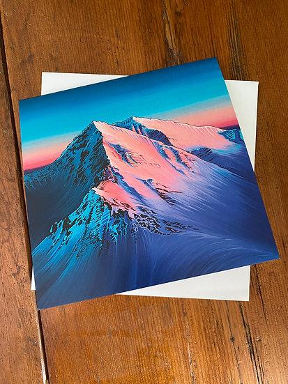 'Alpenglow' greeting cards