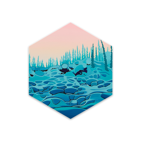 'PILLOWS' hexagon stickers