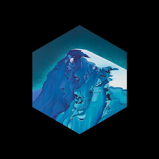 'MACKENZIE PEAK' hexagon stickers