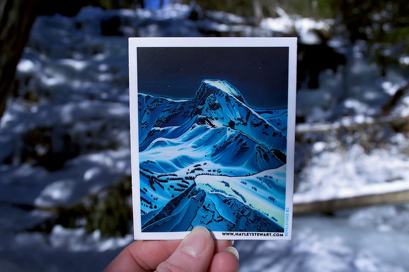 'Ghost Peak' rectangle stickers