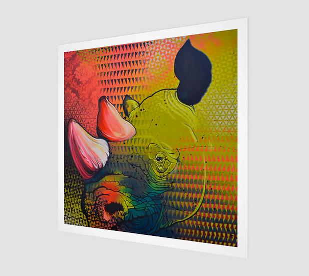 RHINO IV / Paper Print