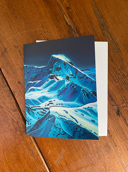 'Ghost Peak' greeting cards