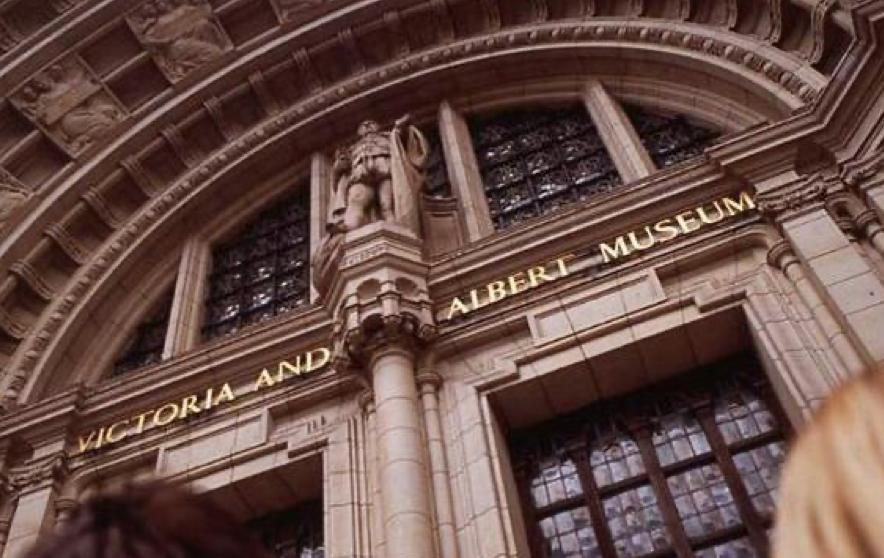 The gorgeous façade of the V&A Museum