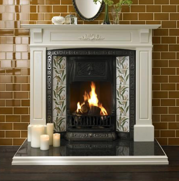 A beautiful V&A tiled fireplace