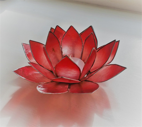 Pinkred lotus flower candle holder gaias gifts inspired by nature this beautiful candle holder is made from capiz shell a type of oyster found in the shallow waters of capiz in the philippines these shells are naturally mightylinksfo