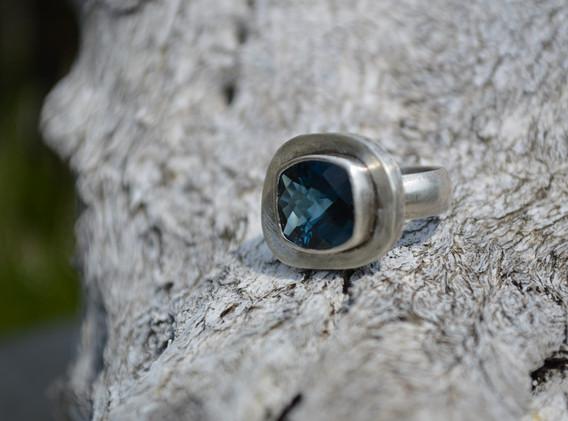 Custom Topaz & Sterling Ring