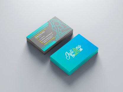 Cartão de visita instrutora de pilates