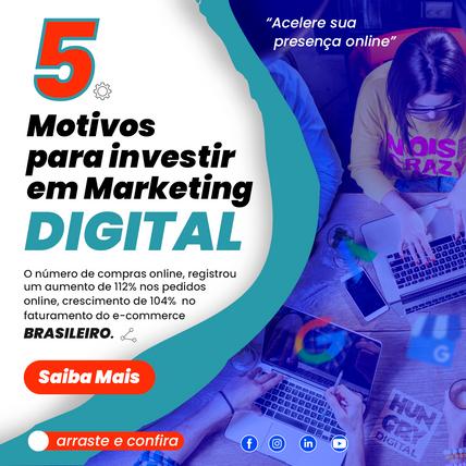 5 Motivos para investir em marketing digital.