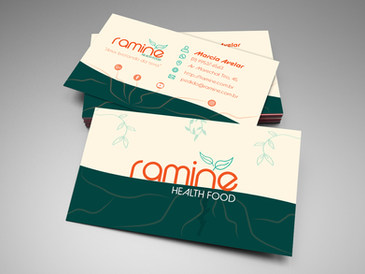 Cartão de Visita para Restaurante Ramine