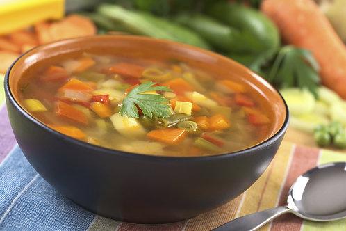 Bandeja de verduras para sopa