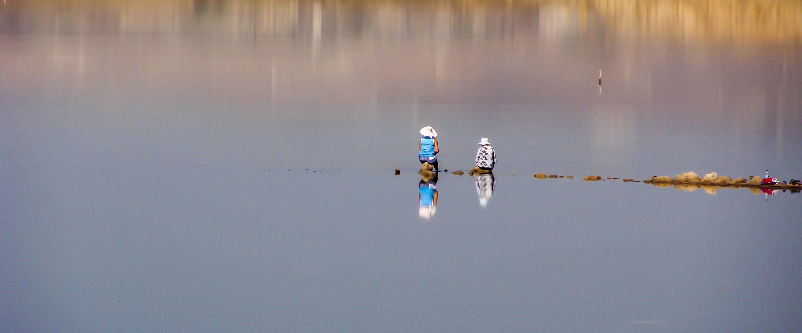 Larnaca lake kids